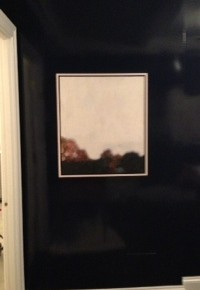 Alex Schuchard Painting framed and installed at clients home